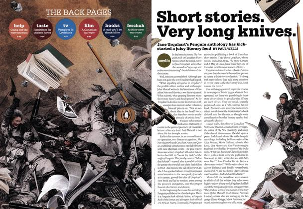 Article Preview: Short stories. Very long knive, SEPT. 8TH 2008 2008 | Maclean's