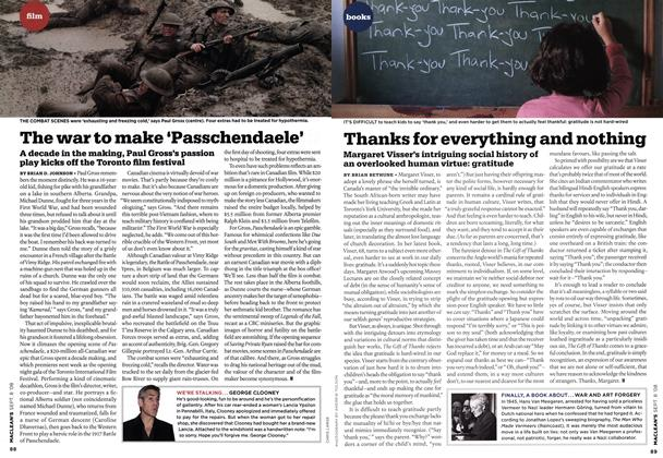 Article Preview: Thanks for everything and nothing, SEPT. 8TH 2008 2008 | Maclean's