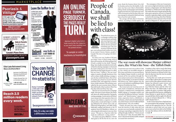 Article Preview: People of Canada, we shall be lied to with class!, SEPT. 8TH 2008 2008 | Maclean's