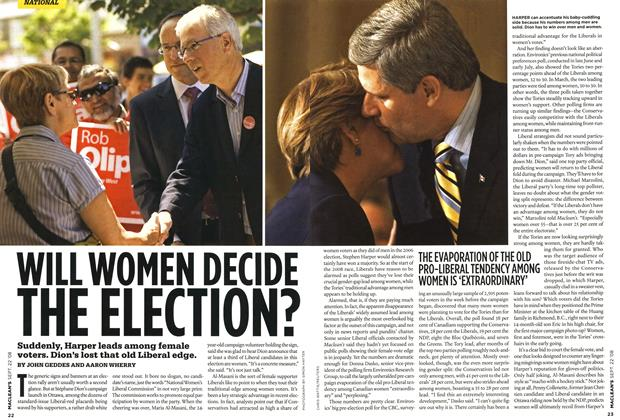 Article Preview: WILL WOMEN DECIDE THE ELECTION?, SEPT. 22nd 2008 2008 | Maclean's