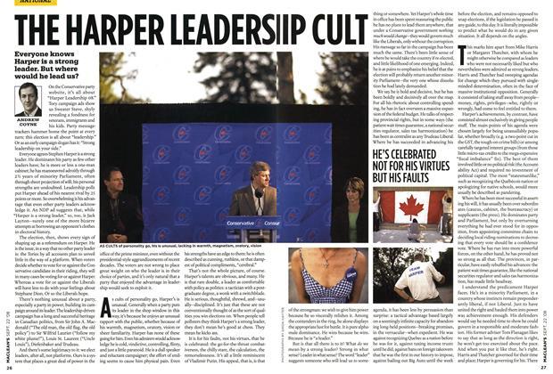 Article Preview: THE HARPER LEADERS IIP CULT, SEPT. 22nd 2008 2008 | Maclean's