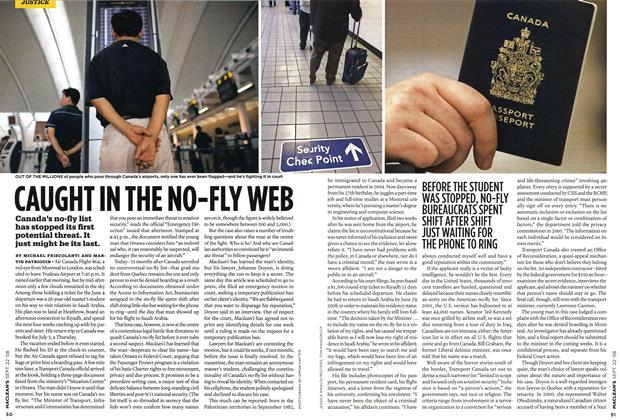Article Preview: CAUGHT IN THE NO-FLY WEB, SEPT. 22nd 2008 2008 | Maclean's