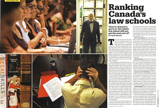 Article Preview: Ranking Canada's law schools, SEPT. 22nd 2008 2008 | Maclean's
