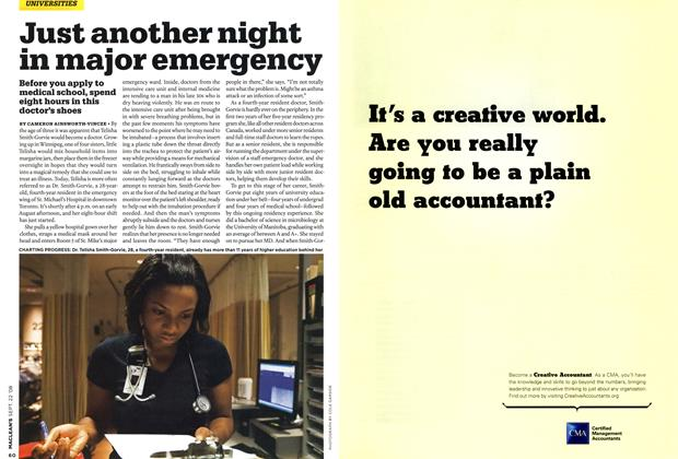 Article Preview: Just another night in major emergency, SEPT. 22nd 2008 2008 | Maclean's