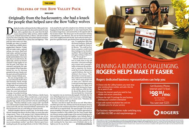 Article Preview: DELINDA OF THE BOW VALLEY PACK 2003-2008, SEPT. 22nd 2008 2008 | Maclean's