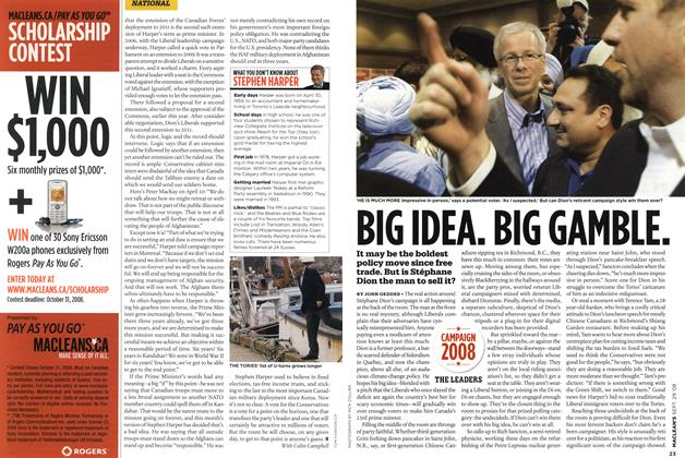 Article Preview: BIG IDEA. BIG GAMBLE., SEPT. 29th 2008 2008 | Maclean's