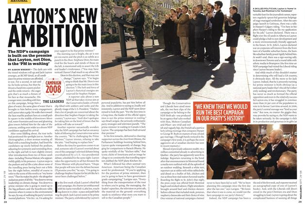 Article Preview: LAYTON'S NEW AMBITION, SEPT. 29th 2008 2008 | Maclean's