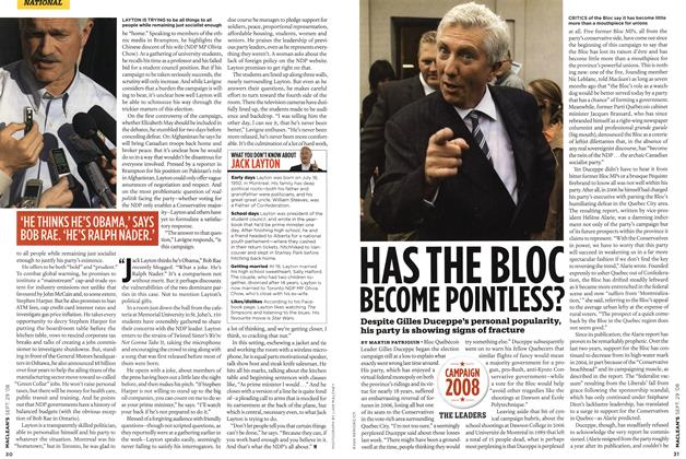 Article Preview: HAS THE BLOC BECOME POINTLESS?, SEPT. 29th 2008 2008 | Maclean's