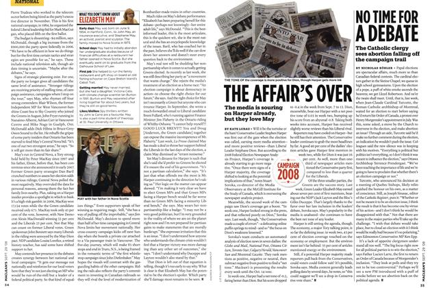 Article Preview: THE AFFAIR'S OVER, SEPT. 29th 2008 2008 | Maclean's