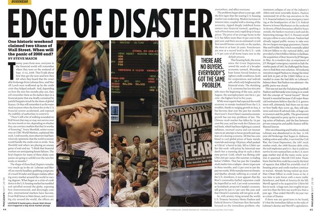 Article Preview: EDGE OF DISASTER, SEPT. 29th 2008 2008 | Maclean's