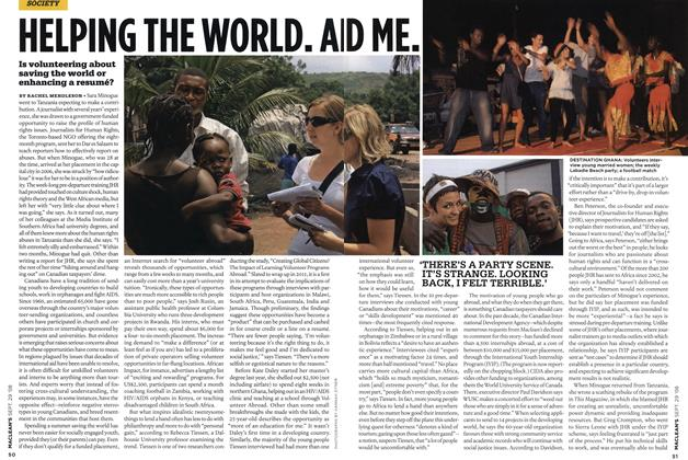 Article Preview: HELPING THE WORLD. AND, SEPT. 29th 2008 2008 | Maclean's
