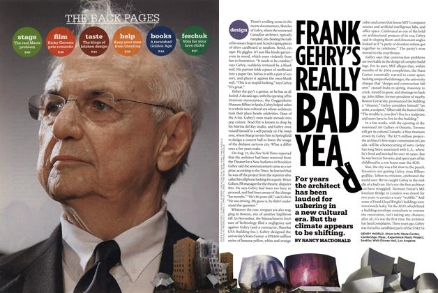 Article Preview: FRANK GEHRY'S REALLY BAD YEAR, SEPT. 29th 2008 2008 | Maclean's