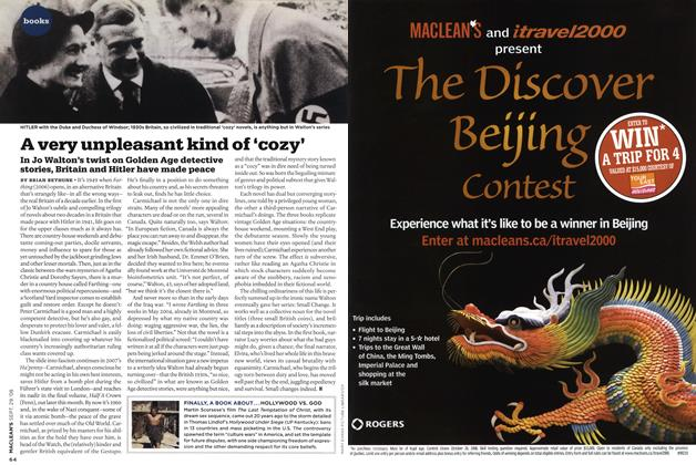 Article Preview: A very unpleasant kind of 'cozy', SEPT. 29th 2008 2008 | Maclean's
