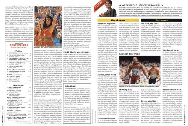 Article Preview: MACLEAN'S BESTSELLERS, SEPT. 29th 2008 2008 | Maclean's