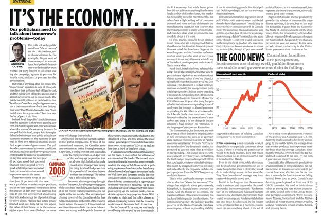 Article Preview: IT'S THE ECONOMY..., OCT. 6th 2008 2008 | Maclean's
