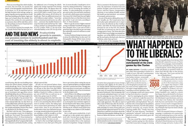 Article Preview: WHAT HAPPENED TO THE LIBERALS?, OCT. 6th 2008 2008 | Maclean's