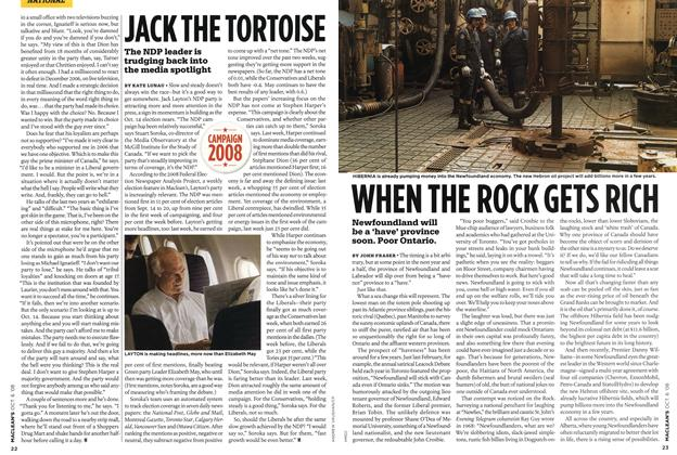 Article Preview: WHEN THE ROCK GETS RICH, OCT. 6th 2008 2008 | Maclean's