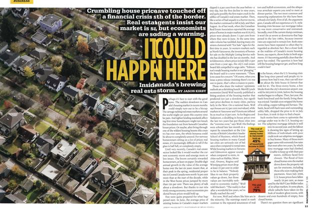 Article Preview: IT COULD HAPPEN HERE, OCT. 6th 2008 2008 | Maclean's