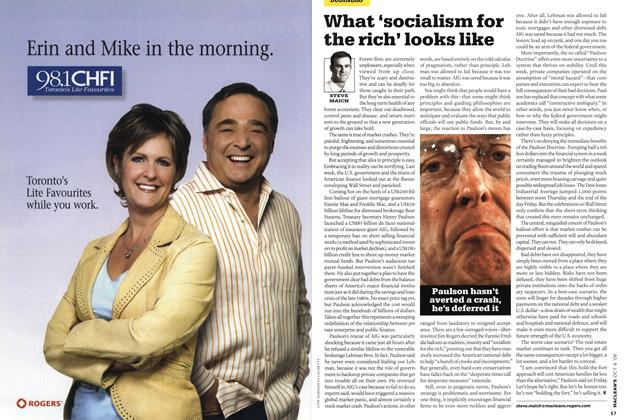 Article Preview: What 'socialism for the rich' looks like, OCT. 6th 2008 2008 | Maclean's