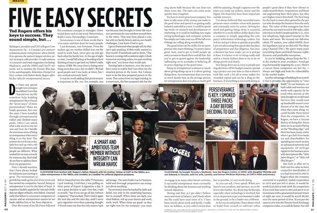 Article Preview: FIVE EASY SECRETS, OCT. 6th 2008 2008 | Maclean's