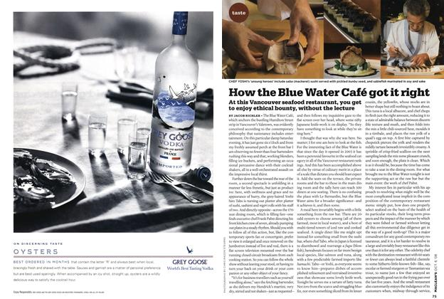 Article Preview: How the Blue Water Café got it right, OCT. 6th 2008 2008 | Maclean's