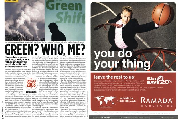 Article Preview: GREEN? WHO, ME?, OCT. 13th 2008 2008 | Maclean's