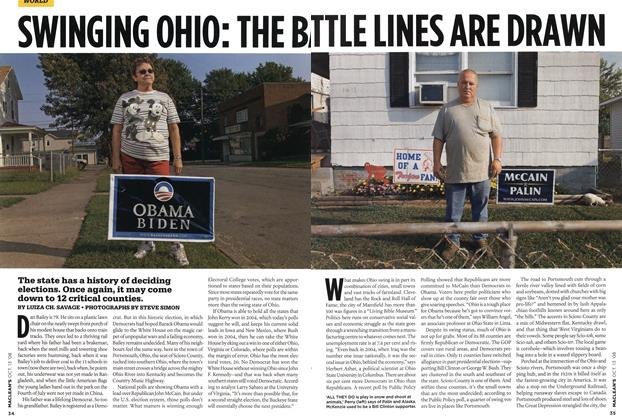 Article Preview: SWINGING OHIO: THE BATTLE LINES ARE DRAWN, OCT. 13th 2008 2008 | Maclean's