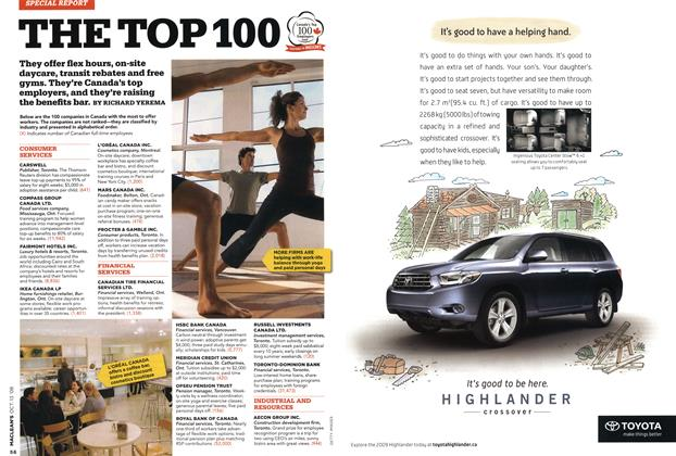 Article Preview: THE TOP 100, OCT. 13th 2008 2008 | Maclean's