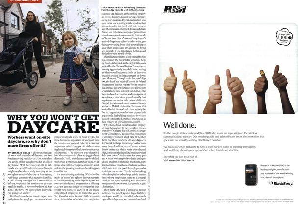 Article Preview: WHY YOU WON'T GET DAYCARE, OCT. 13th 2008 2008 | Maclean's