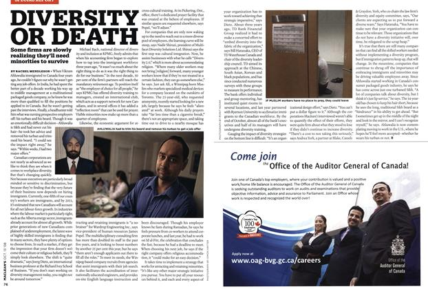 Article Preview: DIVERSITY OR DEATH, OCT. 13th 2008 2008 | Maclean's