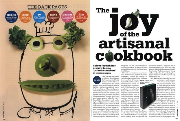 Article Preview: The joy of the artisanal cookbook, OCT. 13th 2008 2008 | Maclean's