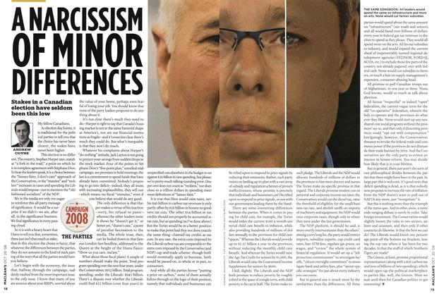 Article Preview: A NARCISSISM OF MINOR DIFFERENCES, October 2008 | Maclean's