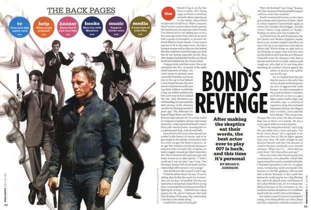Article Preview: BOND'S REVENGE, October 2008 | Maclean's