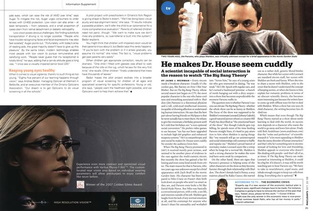 Article Preview: He makes Dr. House seem cuddly, October 2008 | Maclean's