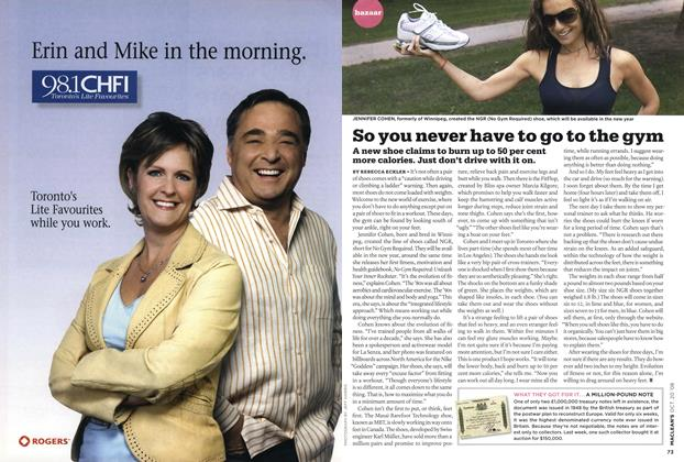 Article Preview: So you never have to go to the gym, October 2008 | Maclean's