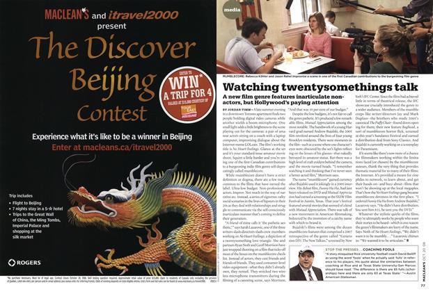 Article Preview: Watching twentysomethings talk, October 2008   Maclean's