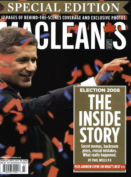 Issue: - OCT. 27th 2008 | Maclean's