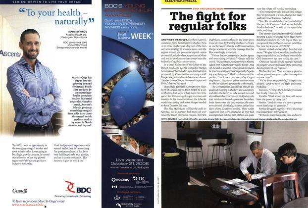 Article Preview: The fight for regular folks, OCT. 27th 2008 2008 | Maclean's