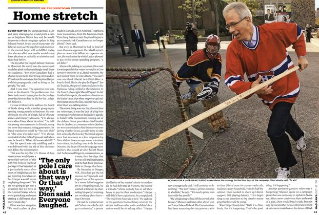Article Preview: Home stretch, OCT. 27th 2008 2008 | Maclean's