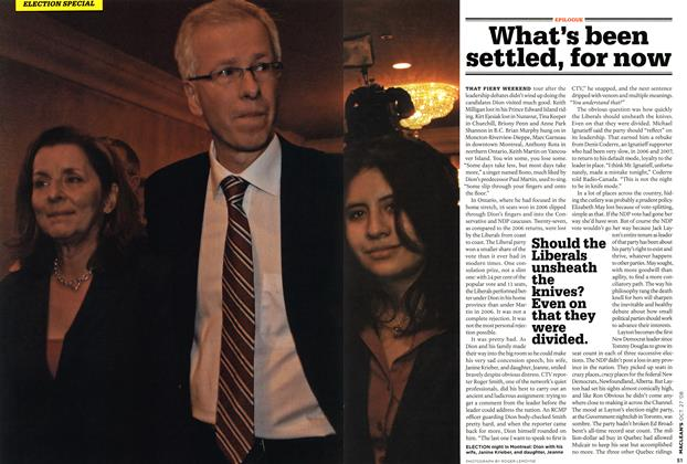 Article Preview: What's been settled, for now, OCT. 27th 2008 2008 | Maclean's