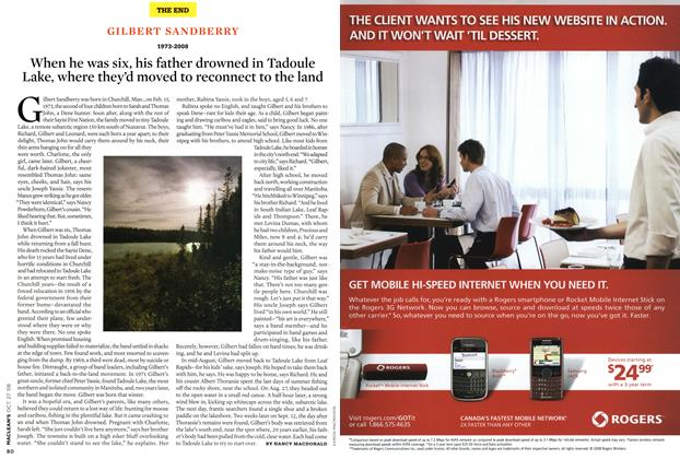 Article Preview: GILBERT SANDBERRY 1973-2008, OCT. 27th 2008 2008   Maclean's