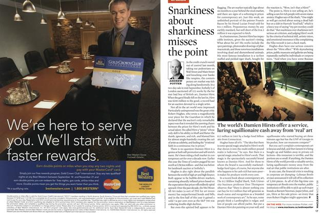 Article Preview: Snarkiness about sharkiness misses the point, NOV. 3rd 2008 2008 | Maclean's
