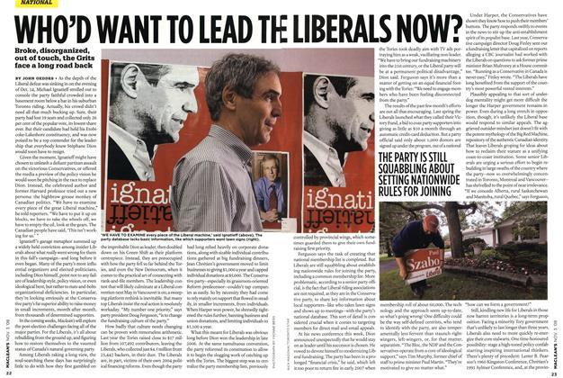 Article Preview: WHO'D WANT TO LEAD THE LIBERALS NOW?, NOV. 3rd 2008 2008 | Maclean's