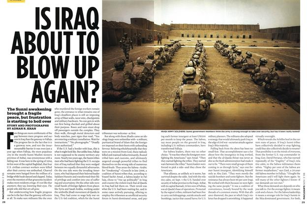 Article Preview: IS IRAQ ABOUT TO BLOW UP AGAIN?, NOV. 3rd 2008 2008 | Maclean's