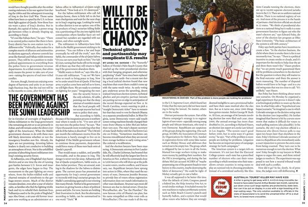Article Preview: WILL IT BE ELECTION CHAOS?, NOV. 3rd 2008 2008 | Maclean's