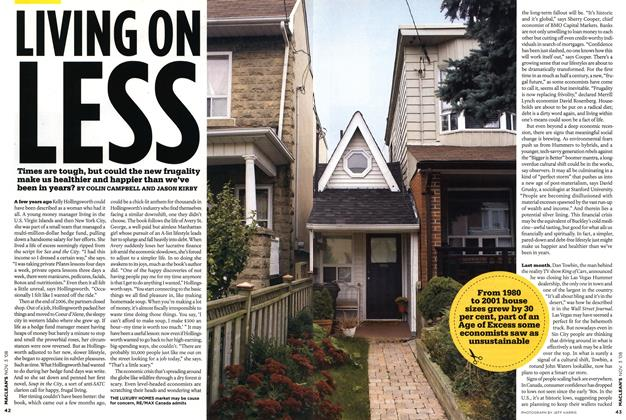 Article Preview: LIVING ON LESS, NOV. 3rd 2008 2008 | Maclean's