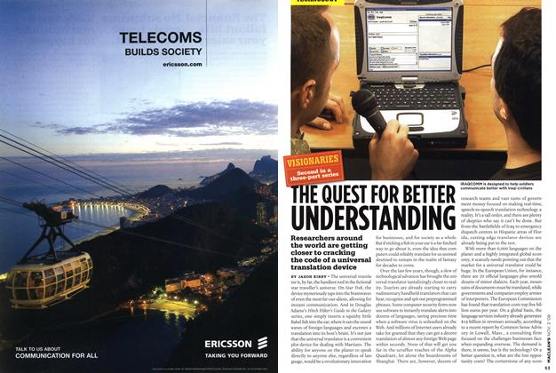Article Preview: THE QUEST FOR BETTER UNDERSTANDING, NOV. 3rd 2008 2008 | Maclean's