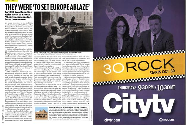 Article Preview: THEY WERE'TO SET EUROPE ABLAZE', NOV. 3rd 2008 2008 | Maclean's