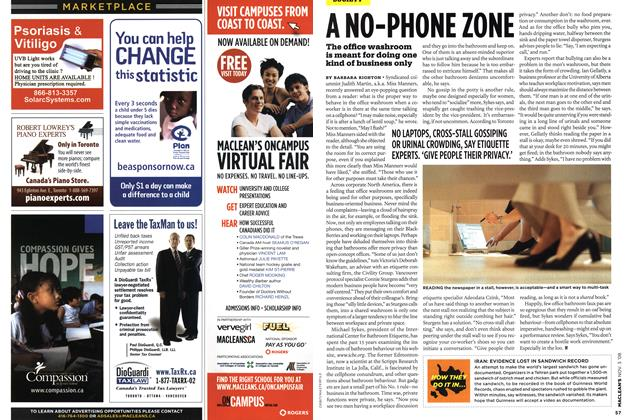 Article Preview: A NO-PHONE ZONE, NOV. 3rd 2008 2008 | Maclean's