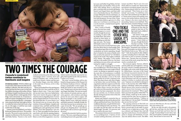 Article Preview: TWO TIMES THE COURAGE, NOV. 3rd 2008 2008 | Maclean's